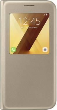 Чехол Samsung S View Standing Cover, для Samsung Galaxy A5 (2017), золотистый (EF-CA520PFEGRU)