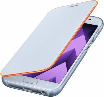 Чехол Samsung Neon Flip Cover, для Samsung Galaxy A3 (2017), синий (EF-FA320PLEGRU)