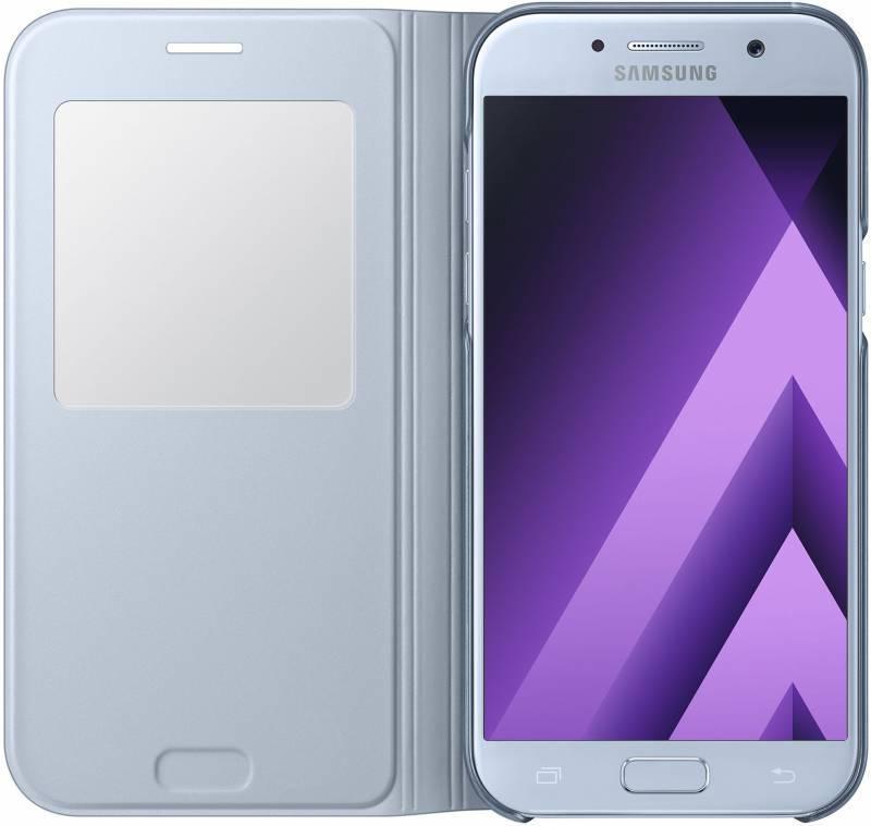 Чехол Samsung S View Standing Cover, для Samsung Galaxy A5 (2017), синий (EF-CA520PLEGRU) - фото 3