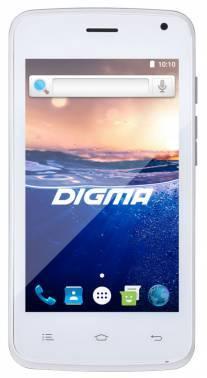 Смартфон Digma Q400 3G HIT 4ГБ белый (HT4023PG)