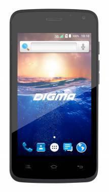 Смартфон Digma HIT Q400 3G черный, встроенная память 4Gb, дисплей 4 800x480, Android 6.0, камера 2Mpix, поддержка 3G, 2Sim, 802.11bgn, BT, FM радио, microSD до 32Gb (HT4023PG)