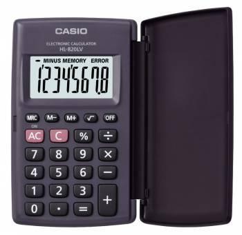 Калькулятор карманный Casio HL-820LV черный