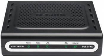 Маршрутизатор D-Link DSL-2500U / BA черный
