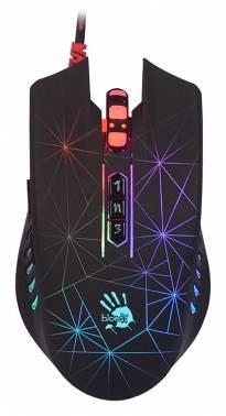 Мышь A4 Bloody P81 черный, оптическая, разрешение сенсора 5000dpi, игровая, проводная, длина провода 1.8м, кнопок: 8, подходит для правой руки