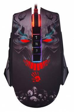 Мышь A4 Bloody P85 черный, оптическая, разрешение сенсора 5000dpi, игровая, проводная, длина провода 1.8м, кнопок: 8, подходит для правой руки