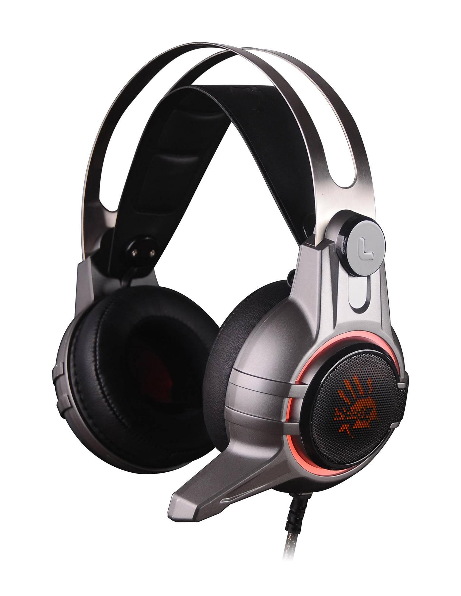 Наушники с микрофоном A4 Bloody M425 темно-серый (M425 GREY) - фото 1