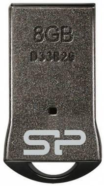 Флеш диск 8Gb Silicon Power Touch T01 USB2.0 черный / серебристый