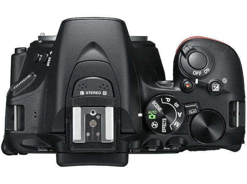 Фотоаппарат Nikon D5600 черный, 1 объектив 18-105 VR AF-S f/3.5-5.6G (VBA500K003) - фото 2