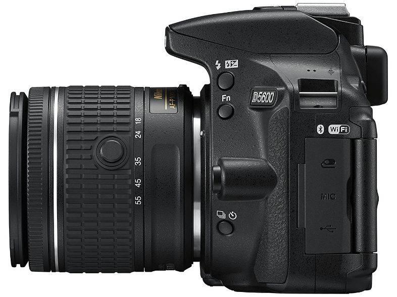 Фотоаппарат Nikon D5600 черный, 2 объектива 18-55 VR AF-P f/3.5-5.6G и 70-300 VR AF-P f/4.5-6.3G (VBA500K004) - фото 5