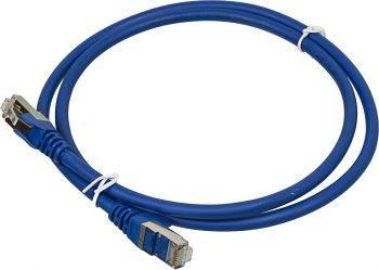 Кабель Патч-корд Lanmaster FTP LAN-PC45/S6A-1.0-BL вилка RJ-45-вилка RJ-45 кат.6А 1м синий