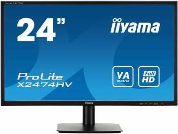 Монитор 23.6 Iiyama X2474HV-B1 черный