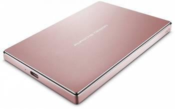 Внешний жесткий диск 2Tb Lacie STFD2000406 Porsche Design Mobile розовое золото USB 3.1