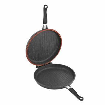 Сковорода-гриль Sinbo SP 5222 круглая руч.:несъемная (с крышкой) темно-серый