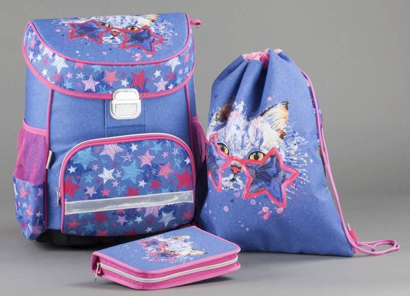 Ранец Hama CRAZY CAT синий/розовый (00139075) - фото 4