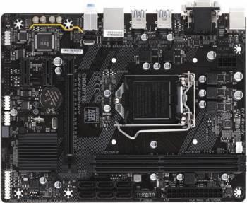 Материнская плата Gigabyte GA-B250M-D2V, гнездо процессора LGA 1151, чипсет Intel B250, память 2xDDR4, форм-фактор mATX, звук AC`97 8ch(7.1), разъемы GbLAN+VGA+DVI