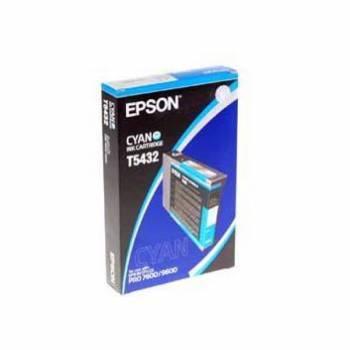 Картридж струйный Epson T5432 голубой (C13T543200)