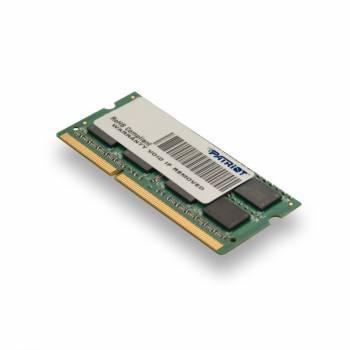 Модуль памяти Patriot PSD34G1600L2S, объем 1 х 4Gb, форм-фактор SO-DIMM 204-pin, тип памяти DDR3L, рабочая частота 1600MHz, unbuffered