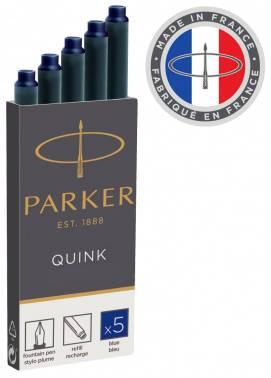 Картридж Parker Quink Ink Z11 (1950384) синие чернила для ручек перьевых (5шт)