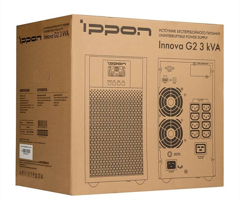 ИБП Ippon Innova G2 3000 черный (G2 3000) - фото 15