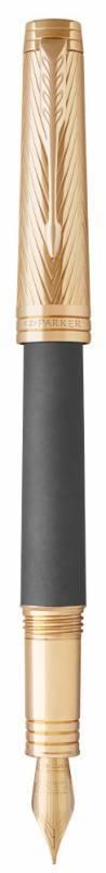 Ручка перьевая Parker Premier F567 Storm Grey GT (1931435) - фото 3