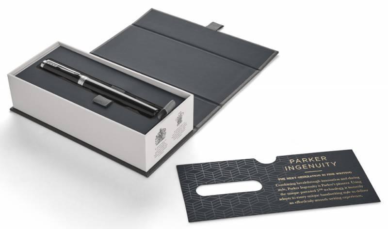 Ручка 5й пишущий узел Parker Ingenuity L F500 LaqBlack CT (1931461) - фото 2