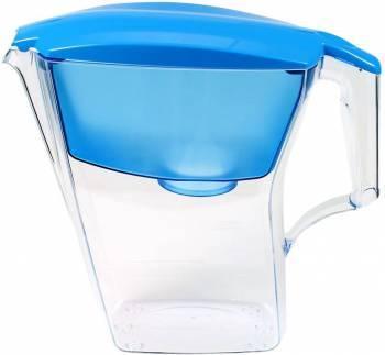 Кувшин Аквафор Лайн голубой, объем 2.8л., очистка воды одноступенчатая, сорбционная(проточная) система