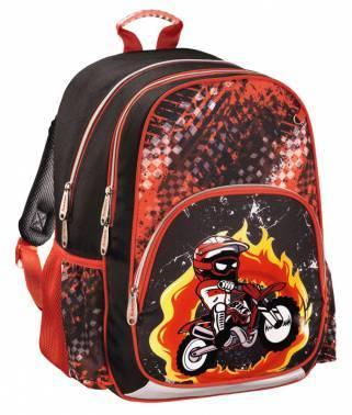 Рюкзак Hama MOTORBIKE черный / красный