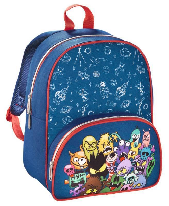 Рюкзак детский Hama MONSTERS синий/красный (00138028) - фото 1
