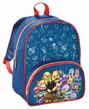 Рюкзак детский Hama MONSTERS синий/красный (00138028)