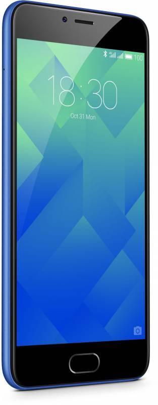 Смартфон Meizu M5 MH611 16ГБ синий - фото 4