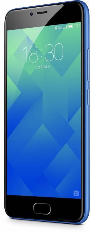 Смартфон Meizu M5 MH611 16ГБ синий - фото 5