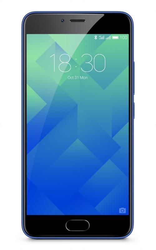 "Смартфон Meizu MH611 M5 синий, встроенная память 32Gb, дисплей 5.2"" 1280x720, Android 6.0, камера 13Mpix, поддержка 3G, 4G, 2Sim, 802.11abgnac, BT, GPS, microSD (M611H_32GB_BLUE) - фото 1"