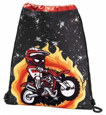 Сумка для обуви Hama Motorbike 00139110 черный / красный 33x40см 1 отдел. б / карм. полиэстер