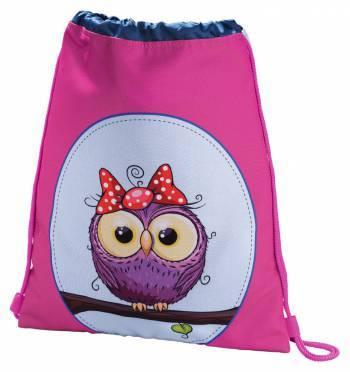 Сумка для обуви Hama Sweet owl 00139117 розовый / голубой 33x40см 1 отдел. б / карм. полиэстер
