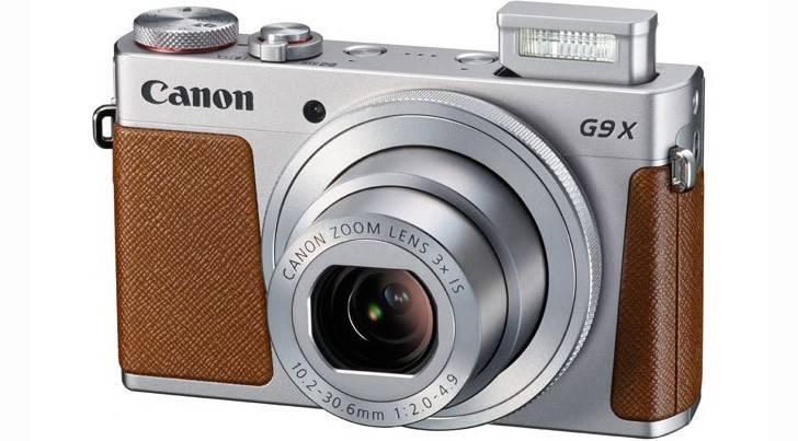Фотоаппарат Canon PowerShot G9 X Mark II серебристый/коричневый (1718C002) - фото 1