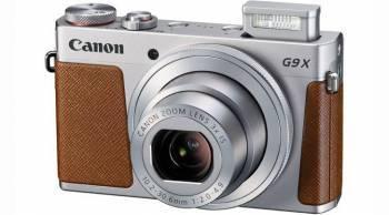 Фотоаппарат Canon PowerShot G9 X Mark II серебристый / коричневый