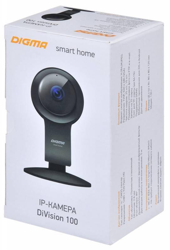 Видеокамера IP Digma DiVision 100 черный (DV100) - фото 9
