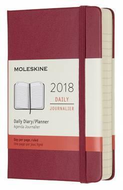 Ежедневник Moleskine CLASSIC DAILY POCKET малиновый