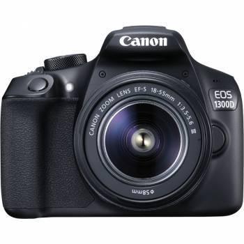 Фотоаппарат Canon EOS 1300D KIT черный, 1 объектив 18-55mm f / 3.5-5.6 DC III