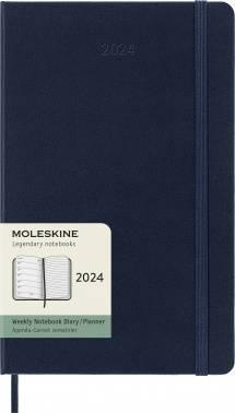 Еженедельник Moleskine CLASSIC WKNT синий сапфир (DHB2012WN3)