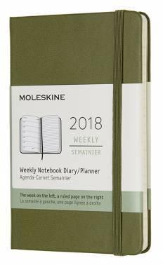 Еженедельник Moleskine CLASSIC WKNT POCKET зеленый вяз