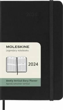 Еженедельник Moleskine Classic WKLY VERTICAL черный (DHB12WV2)