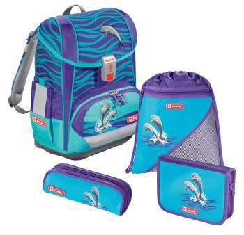 Ранец Step By Step Light2 Happy Dolphins голубой