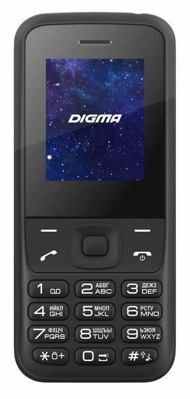 Мобильный телефон Digma A177 2G Linx черный - фото 1