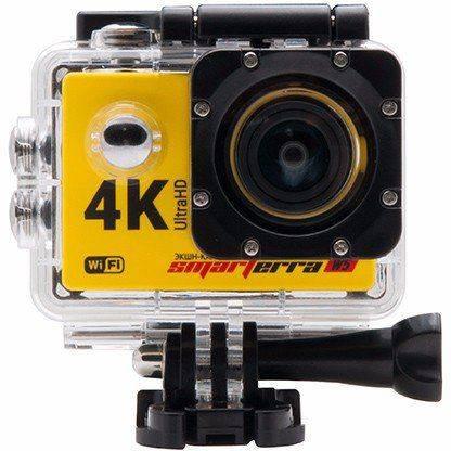 Экшн-камера Smarterra W5 желтый - фото 4