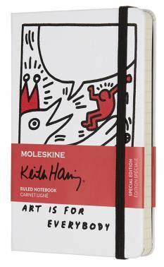 Блокнот Moleskine Limited Edition KEITH HARING Pocket белый (LEKH01MM710)