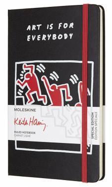 Блокнот Moleskine Limited Edition KEITH HARING LARGE 130х210мм 240стр. линейка черный