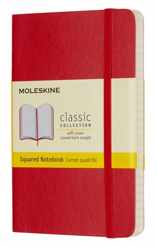 Блокнот Moleskine Classic Soft Pocket красный (QP612F2) - фото 1