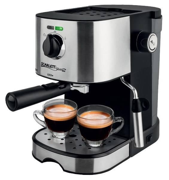 Кофеварка эспрессо Scarlett SL-CM53001 черный/серебристый (CM53001) - фото 1