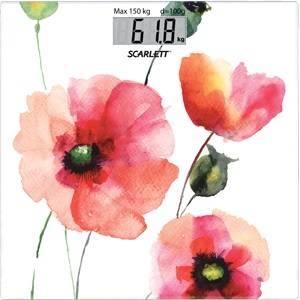 Весы напольные электронные Scarlett SC-BS33E084 белый / рисунок